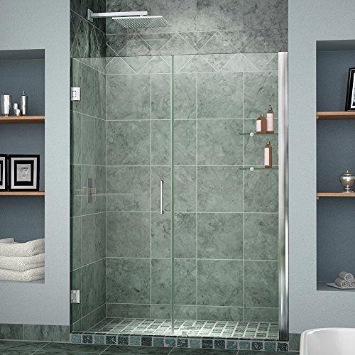 Dreamline Unidoor 42 43 In Width Frameless Hinged Shower Door 3 8 Glass Chrome Finish Frameless Shower Doors Shower Doors Dreamline Shower