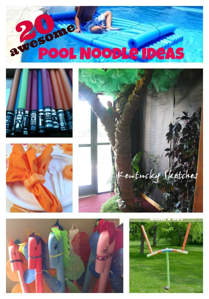 20 Awesome Pool Noodle Hacks Pinkwhen Pool Noodles Pool