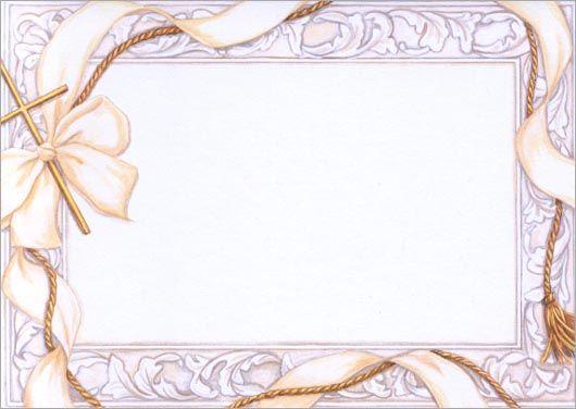 Bordes decorativos para tarjetas de primera comunión - Imagui ...