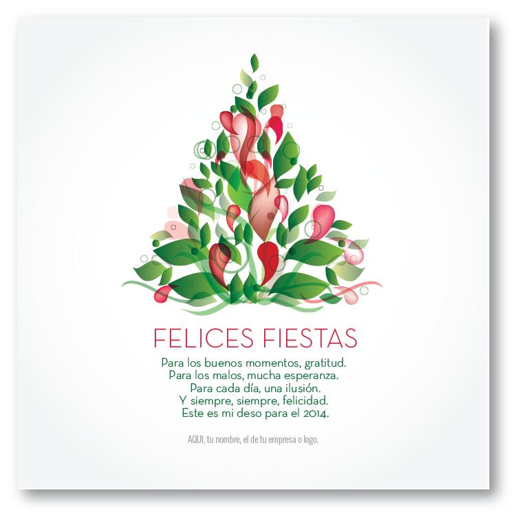 Arbol deseos tarjetas para navidad y fin de a o - Frases navidenas para empresas ...