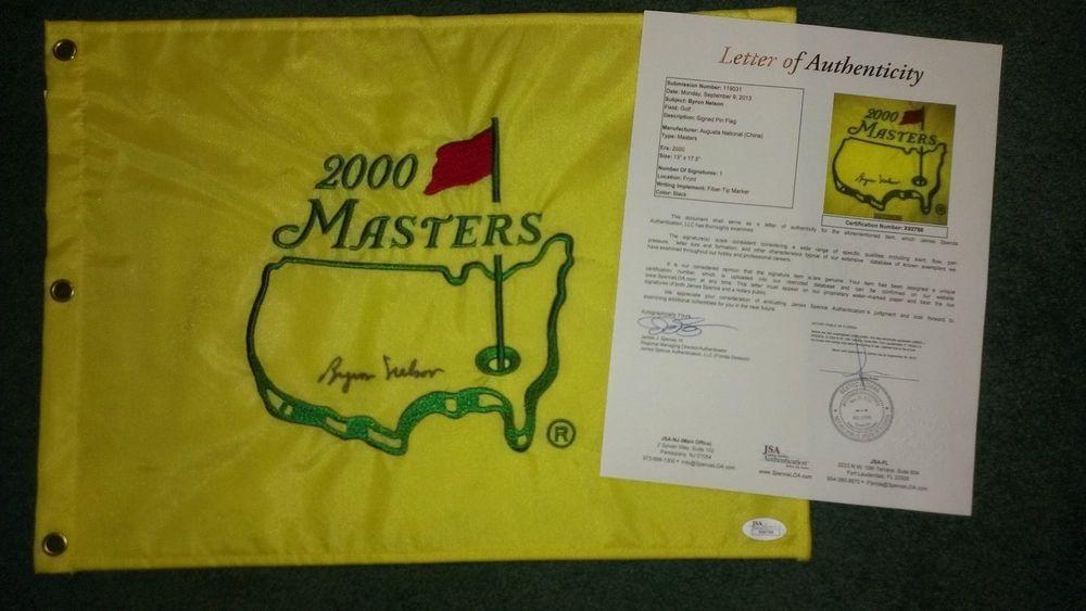 ccc19709fd3 BYRON NELSON signed Masters Flag AUGUSTA PGA JSA COA (eBay Link)