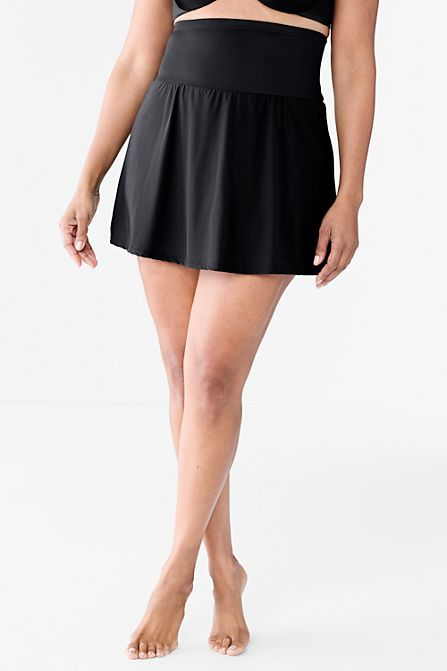 8203fea715 Women's Slender Ultra High Waist SwimMini Swim Skirt from Lands' End ...