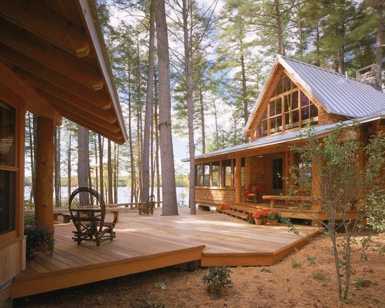 Exterior Rustic Lake House Design, Pictures, Remodel, Decor and Ideas