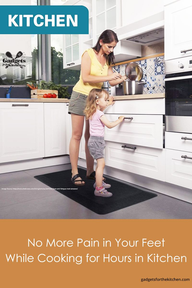 Anti Fatigue Mats Make It Easier To Stand At Your Kitchen Counter Or Anywhere In Your Home Check Ou Kitchen Gadgets Kitchen Design Small Small Cottage Kitchen