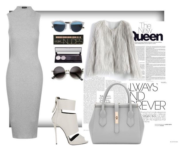 """""""ALL GREY"""" by maahira123 ❤ liked on Polyvore featuring Nicholas Kirkwood, Topshop, Christian Dior, Giuseppe Zanotti and Chicwish"""