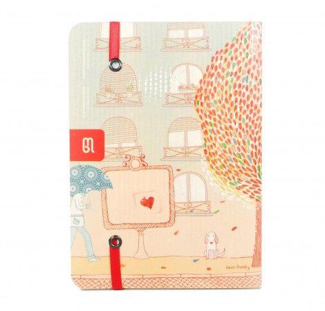 Cuaderno de viaje cosido mediano Buenos Aires  Por: Laura Varsky