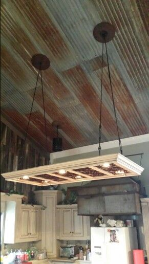 Tin Ceiling For Bonus Room And Back Porch With Images Rustic