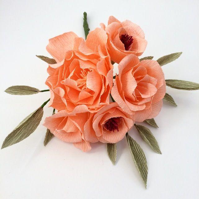 Paper flower bouquet -Bridesmaid- Wedding- Anniversary Gift ...