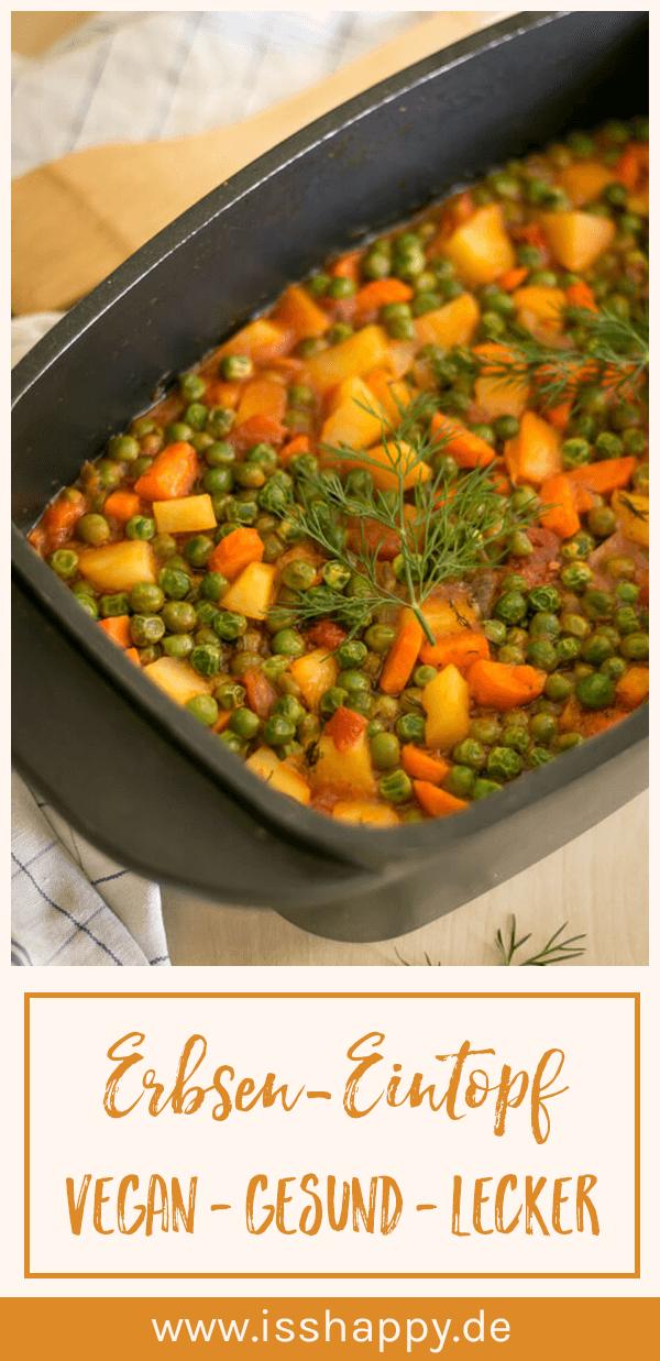 Einfacher Erbseneintopf (vegan) – kocht sich wie von selbst #veganerezeptemittag