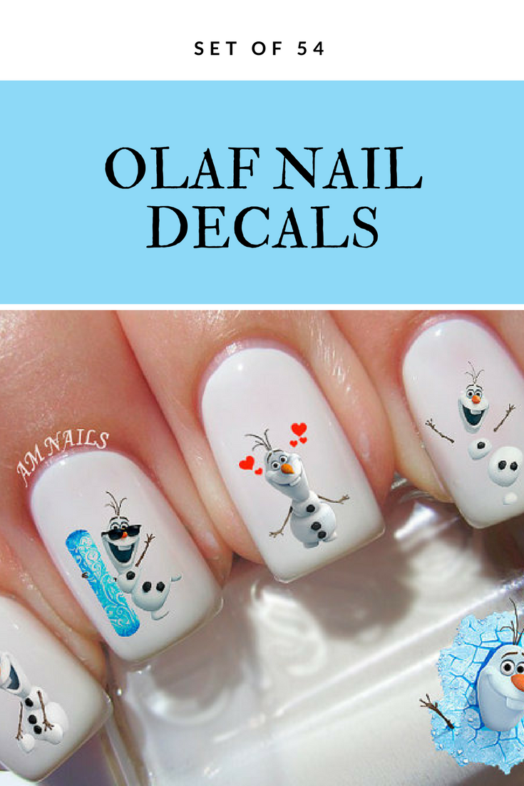 Disney Frozen Olaf Nail Decals, set of 54 #ad #nailart #olaf #frozen ...