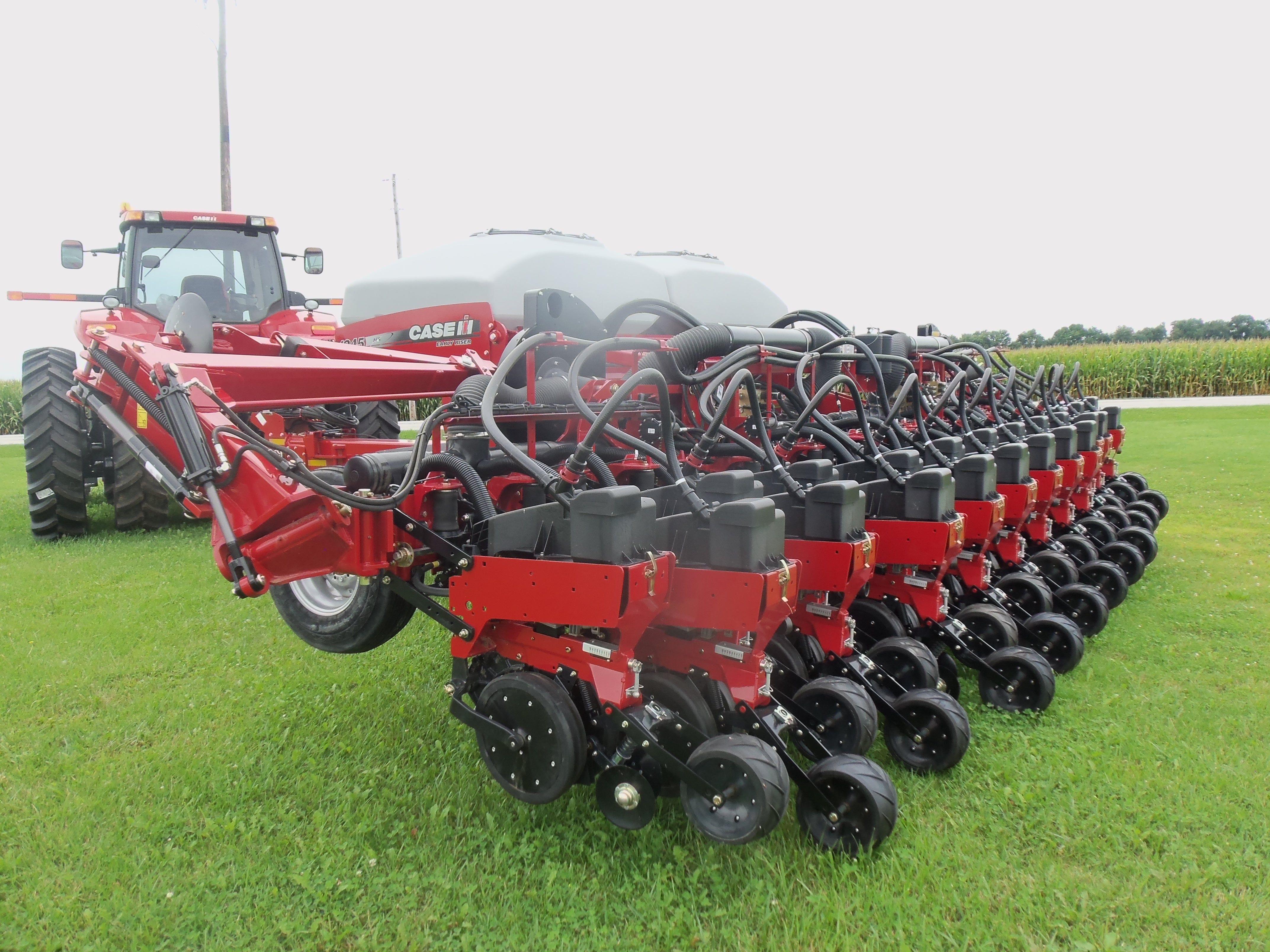 Rear Of 23 Row Caseih 1245 Corn Planter Caseih Equipment
