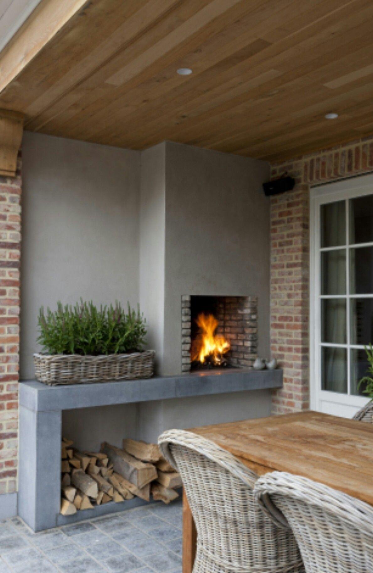Uitgelezene Open haard tuin overkapping buiten leven | Fireplace garden BI-39