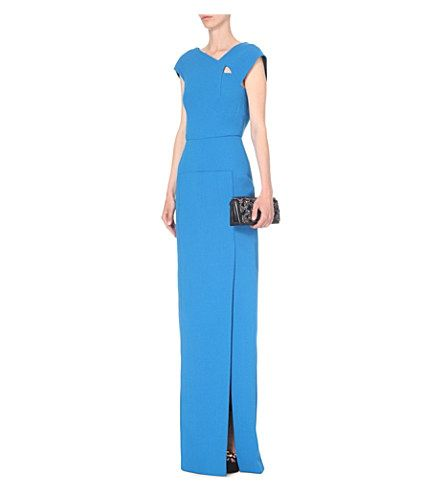 ROLAND MOURET Ambon wool-crepe gown £1,995.00