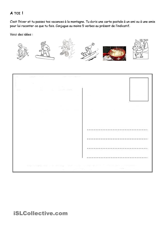 Comprehension Et Expression Ecrite Carte Postale