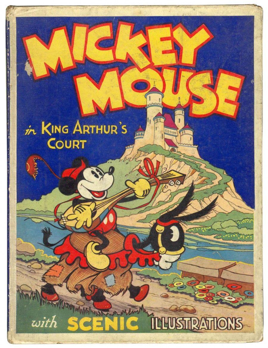 mickey mouse in king arthur's court'' by disney - dean 1934. www