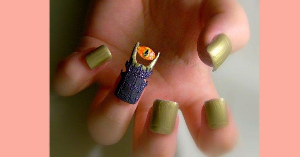 "Painted Nails ""Dark Tower"""