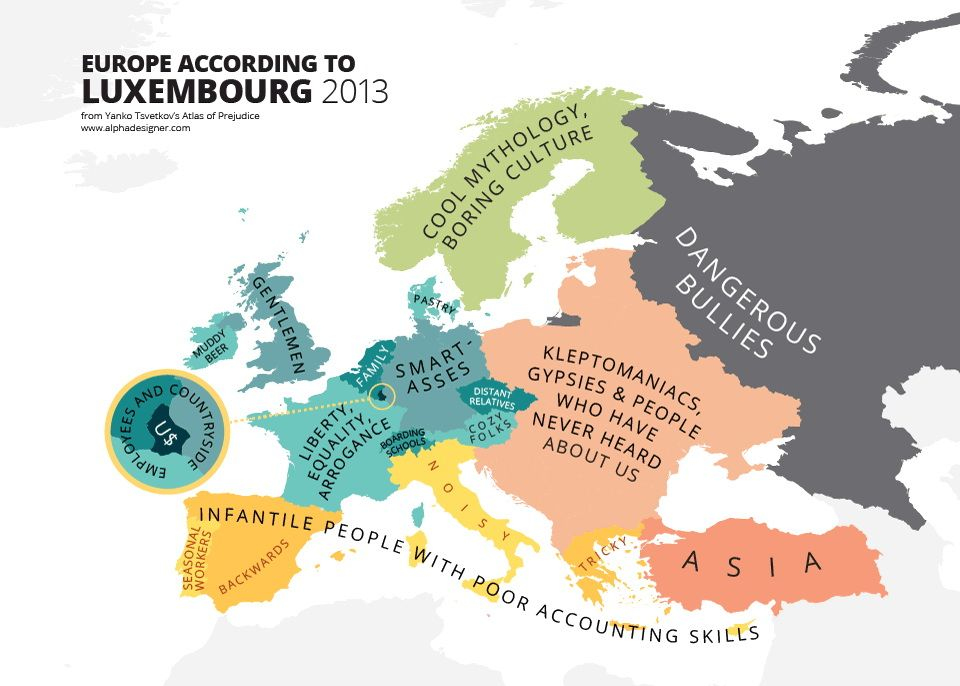 Europe According To Luxembourg Funny Maps Map Europe
