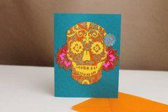 El Dia Skull Card Hello Sisters $4.49