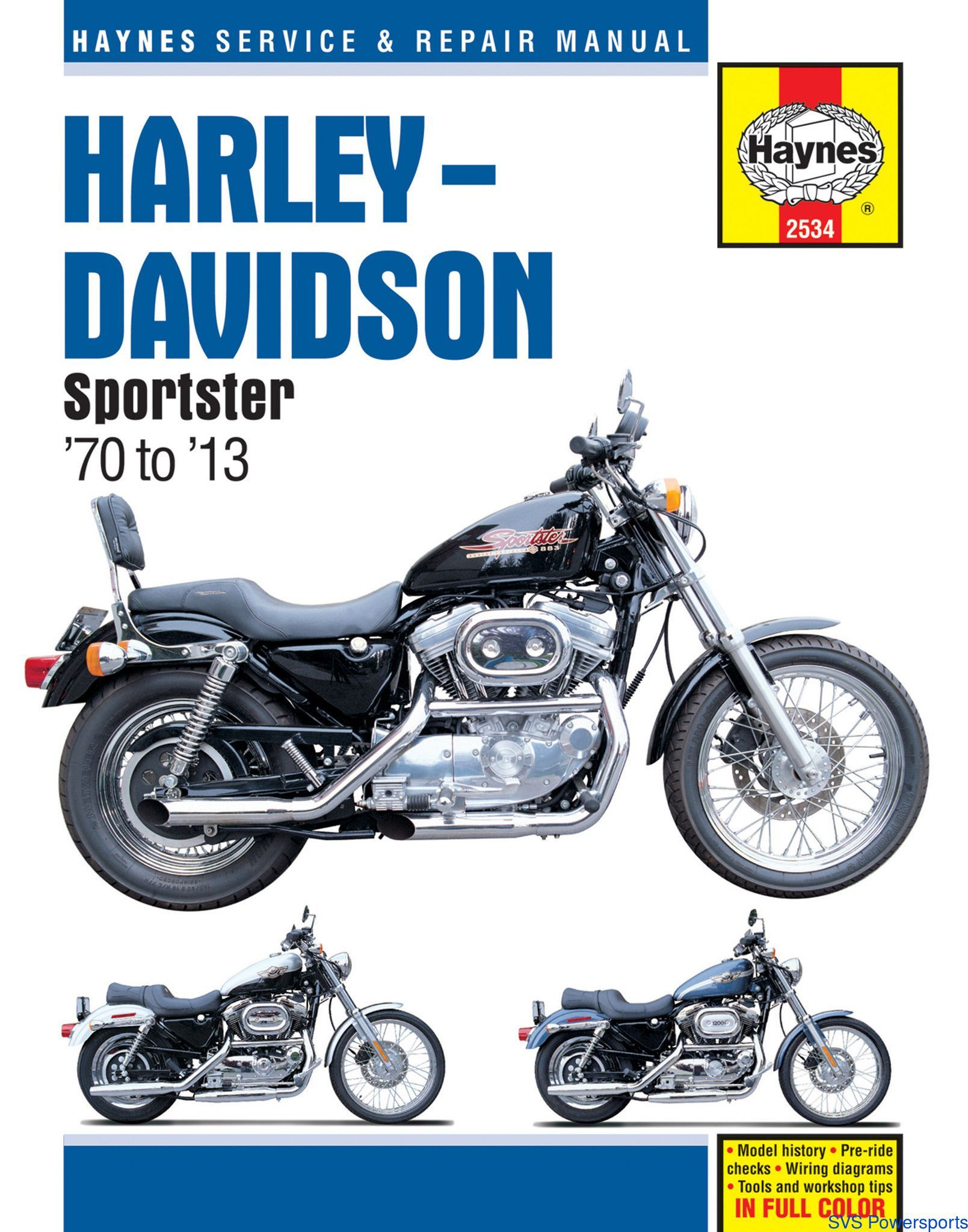 haynes m2534 repair manual for 1970 13 harley davidson sportsters xl rh pinterest com Harley Sportster Service Manual Harley-Davidson Sportster 1200 Manual