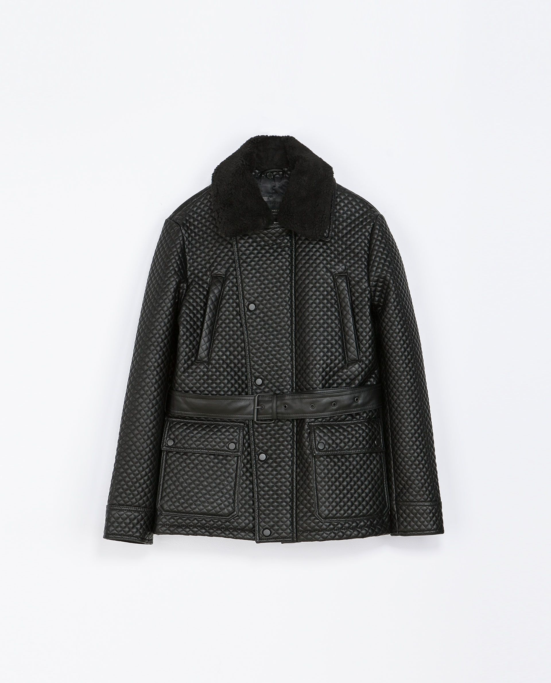 c5564597 Zara DOUBLE BREASTED QUILTED THREE QUARTER LENGTH COAT Ref. 0706/334 179.00  CAD OUTER SHELL BASE FABRIC: 50% POLYESTER, 50% VISCOSE COATING: 100% ...