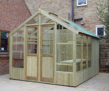 storage shed greenhouse combination
