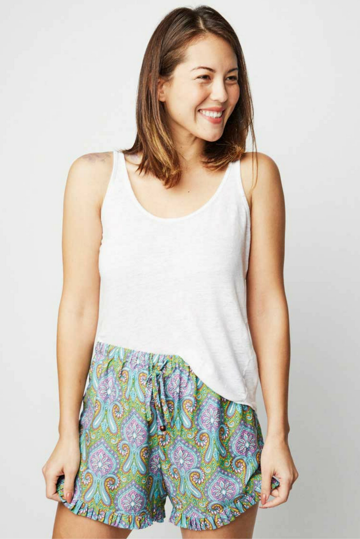 The Kiron-print Punjammies® shorts are ethically-made loungewear with a  paisley 010a38fcb