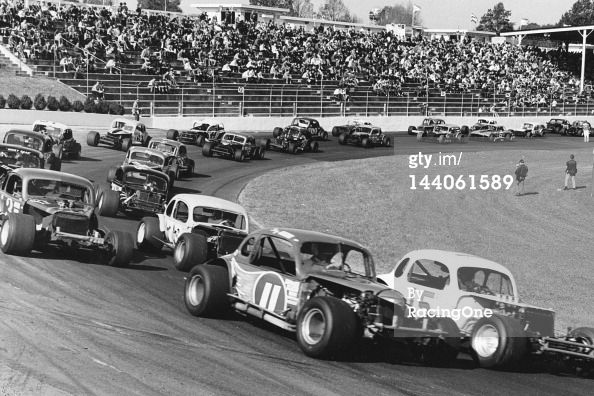 The Field Of Nascar Modified Stock Cars Gets Set For The Start Of