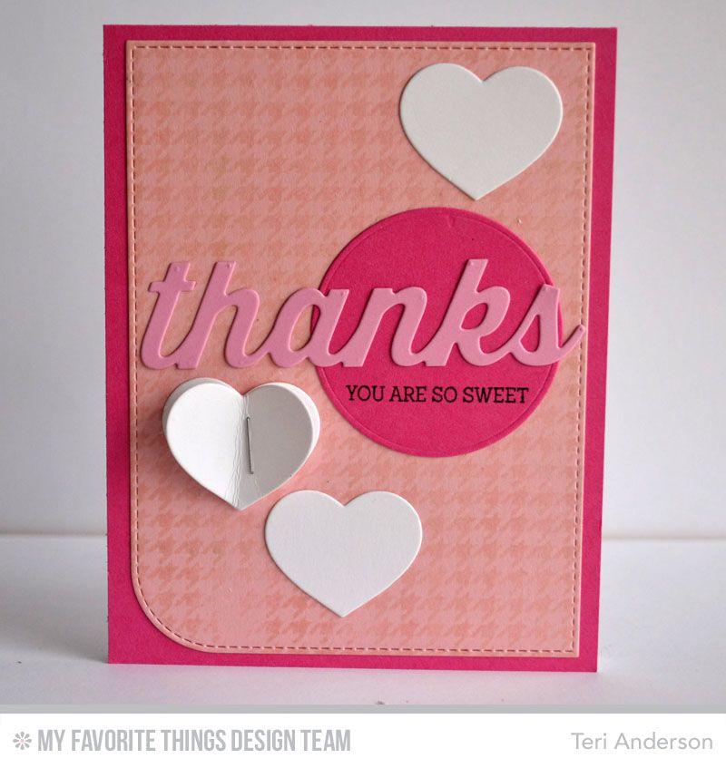 Donuts and Sprinkles, Houndstooth Background, Blueprints 22 Die-namics, Many Thanks Die-namics - Teri Anderson #mftstamps