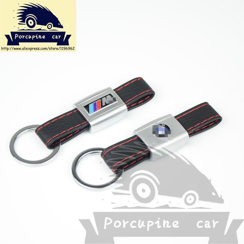 car leather key rings car logo keychain for bmw m e46 e39. Black Bedroom Furniture Sets. Home Design Ideas