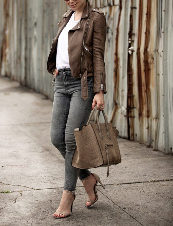 Rev Up Your Wardrobe With These Leather Jacket Outfits | Edgy chic ...