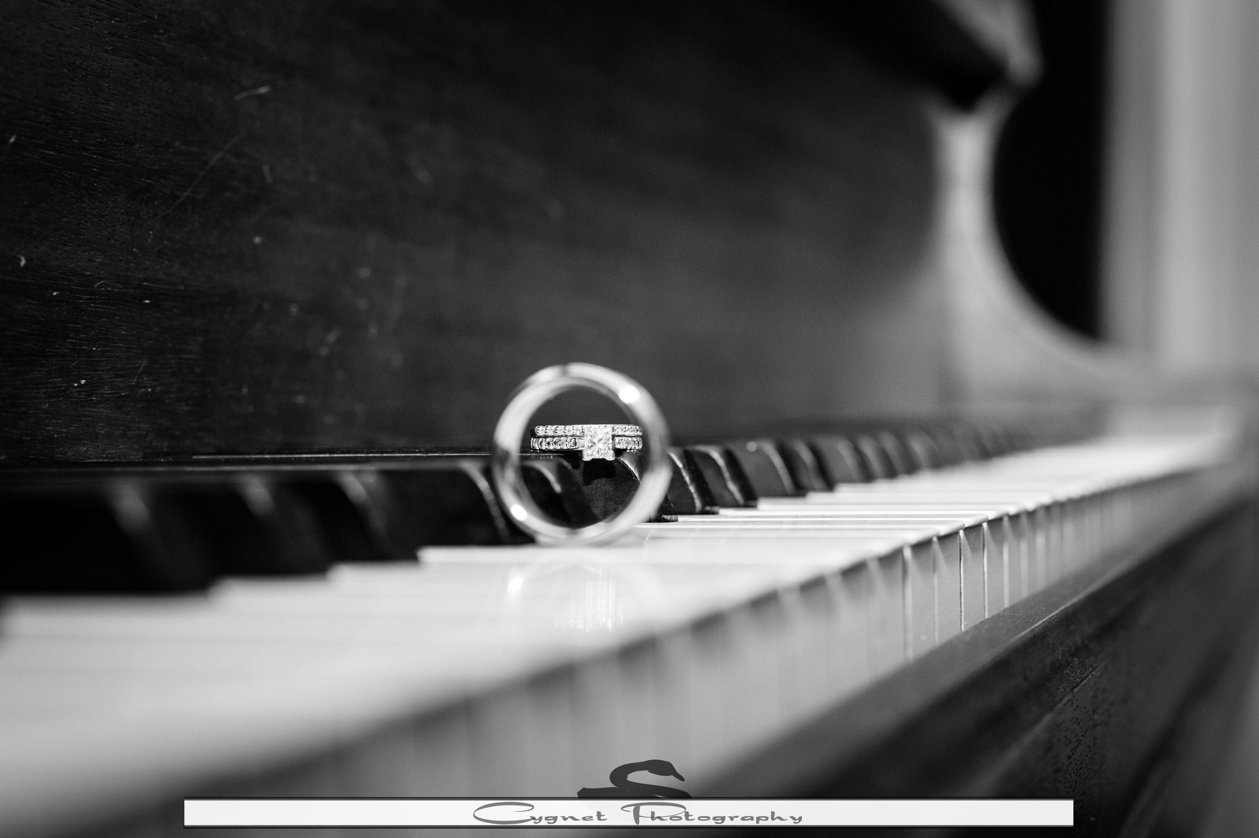 Ring, Piano, Wedding, Bride, Groom