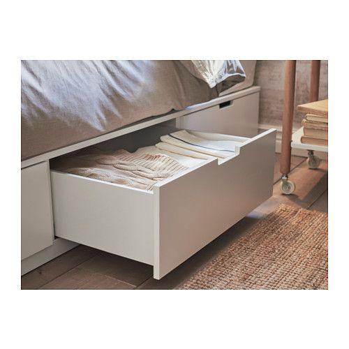 Ikea Nordli White Bed Frame With Storage Bedroom Diy Bed