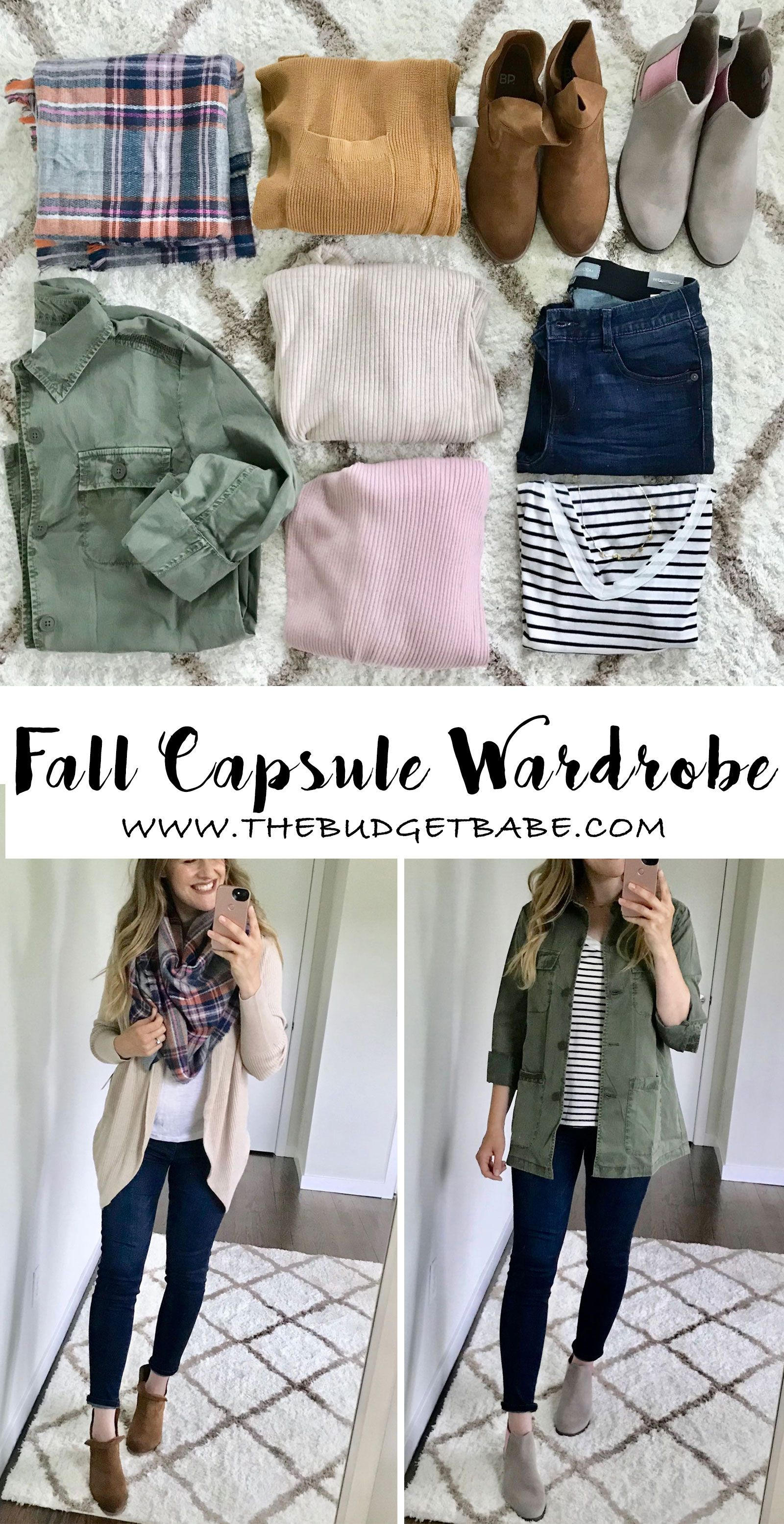 Fall Capsule wardrobe for stay-at-home moms, casual outfit ideas for fall + winter