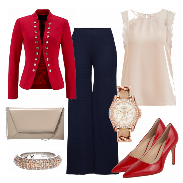 Ladyinred Damen Outfit Komplettes Business Outfit