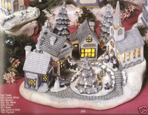 Ceramic Bisque Christmas Village Scene Scioto Mold 527 U-Paint ...