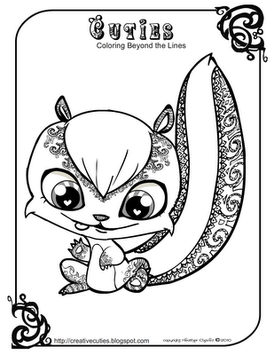 Charmant Baby Skunk Coloring Pages
