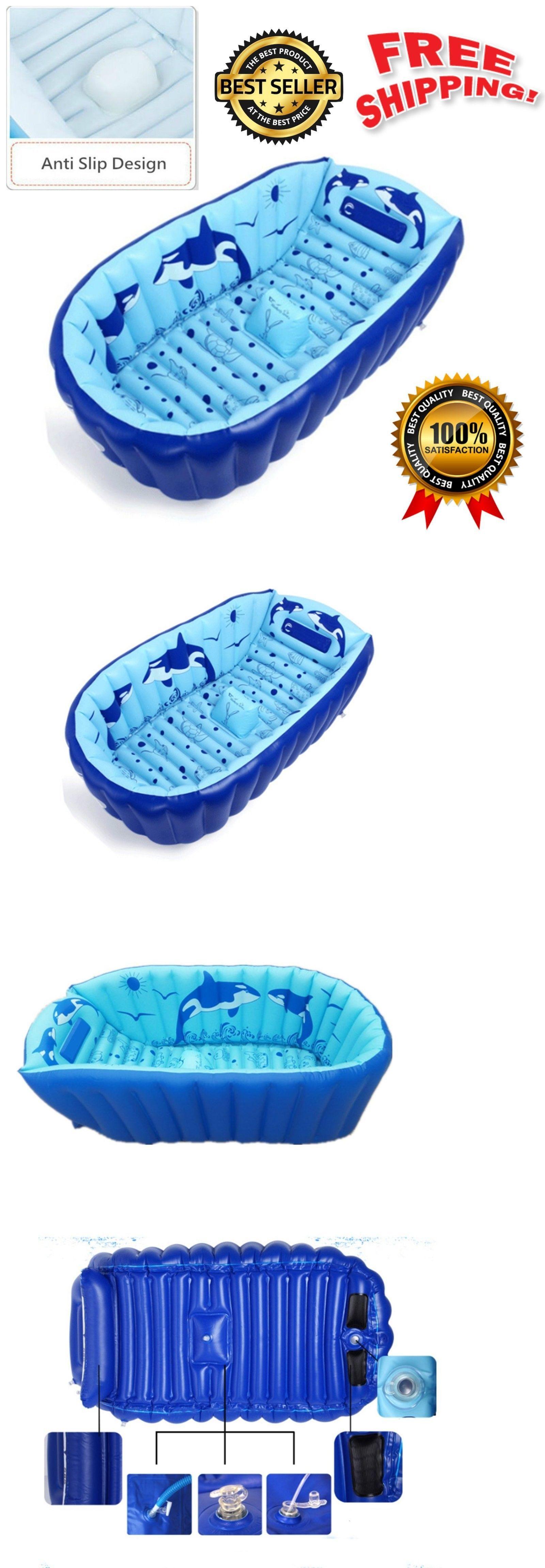 Bath Tubs 113814: Inflatable Baby Bathtub Portable Mini Air Swimming ...