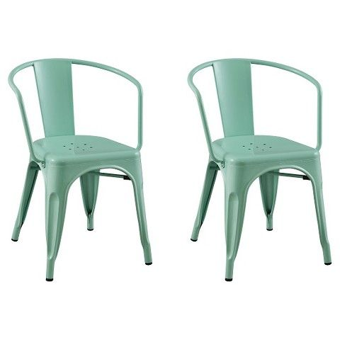 Carlisle Dining Chair Metal Multiple Colors Set Of