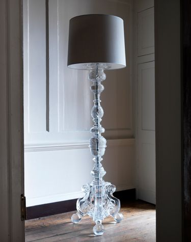 Marianna kennedy cawdor lamps cast resin floor lamps design awesome floor lamp with clear decorative base stand mozeypictures Image collections