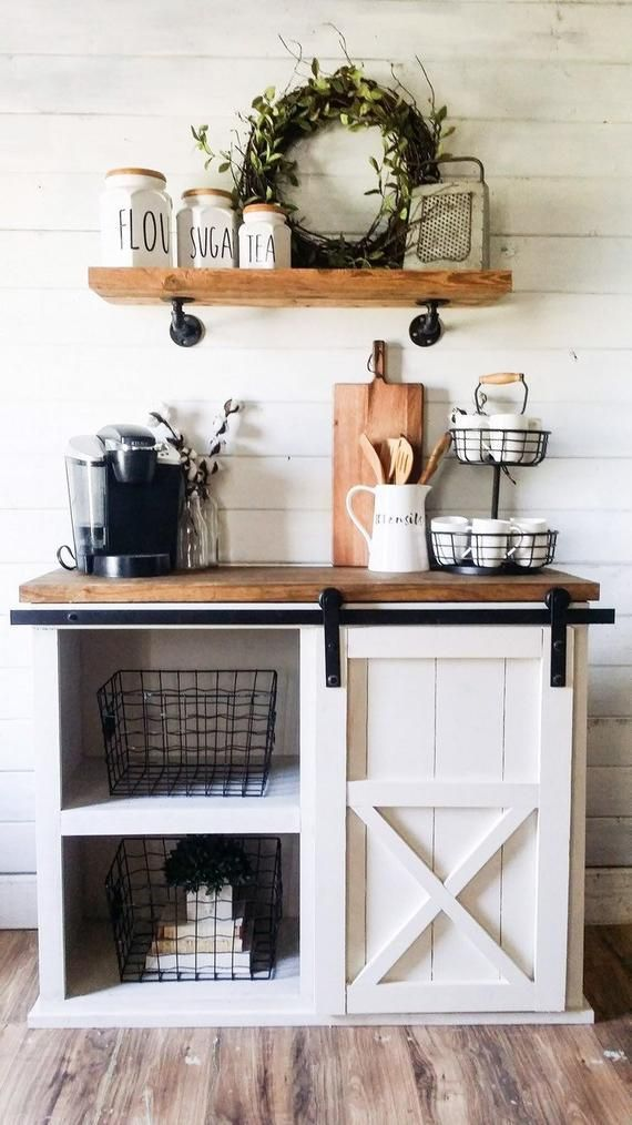 Adelyn Farmhouse coffee bar, farmhouse vanity, farmhouse entrytable, coffee bar, farmhouse furniture, farmhouse buffe - Haus Dekoration #coffeebarideas
