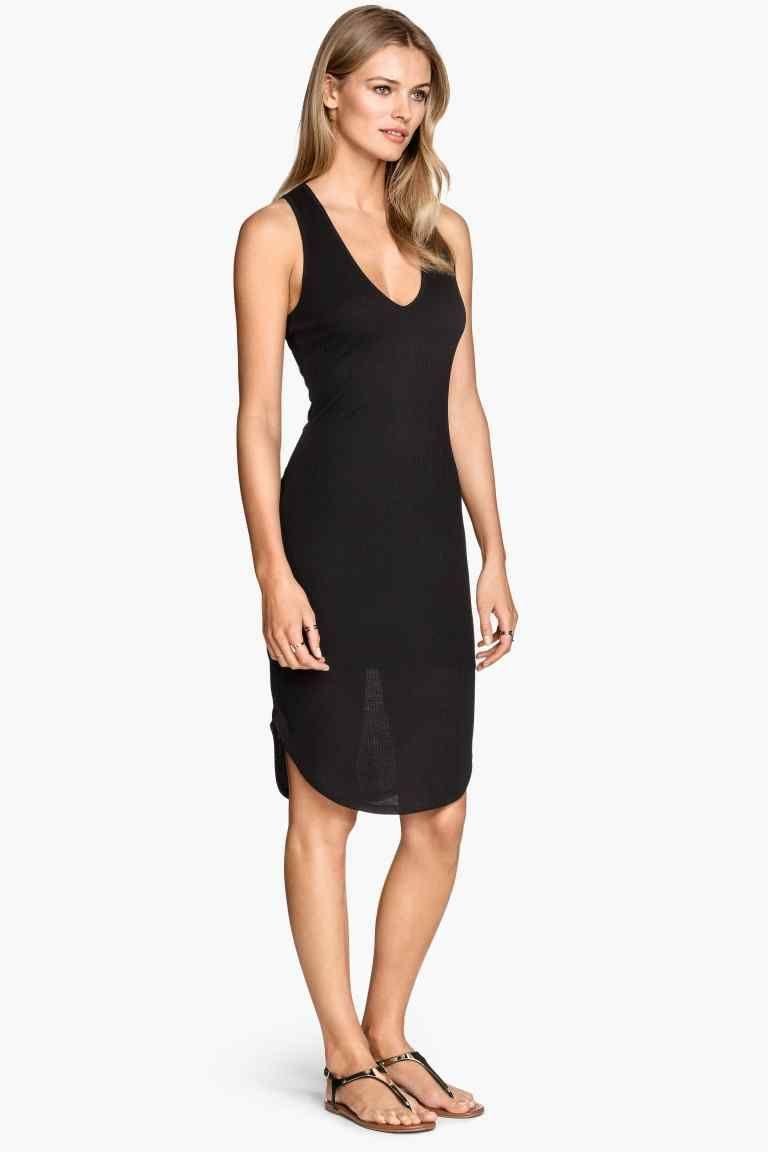 Sukienka z dżerseju w prążek | H&M