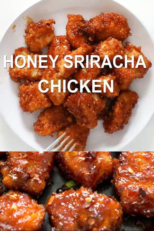Sweet and Spicy Baked Honey Sriracha Chicken - #Baked #chicken #Honey #Spicy #Sriracha