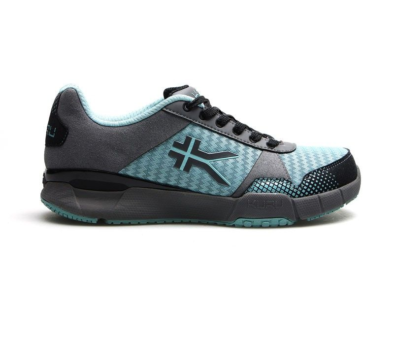6252685b3a KURU Quantum - Fitness Shoe for Plantar Fasciitis - Glacial Blue/Gray/Black