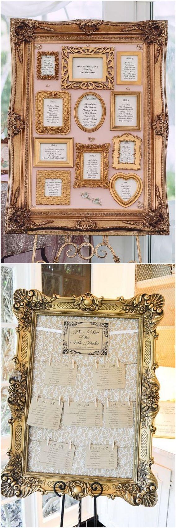 Vintage style wedding decoration ideas   Vintage Baroque Wedding Decor Ideas  SIGNSFrames u Mirrors for