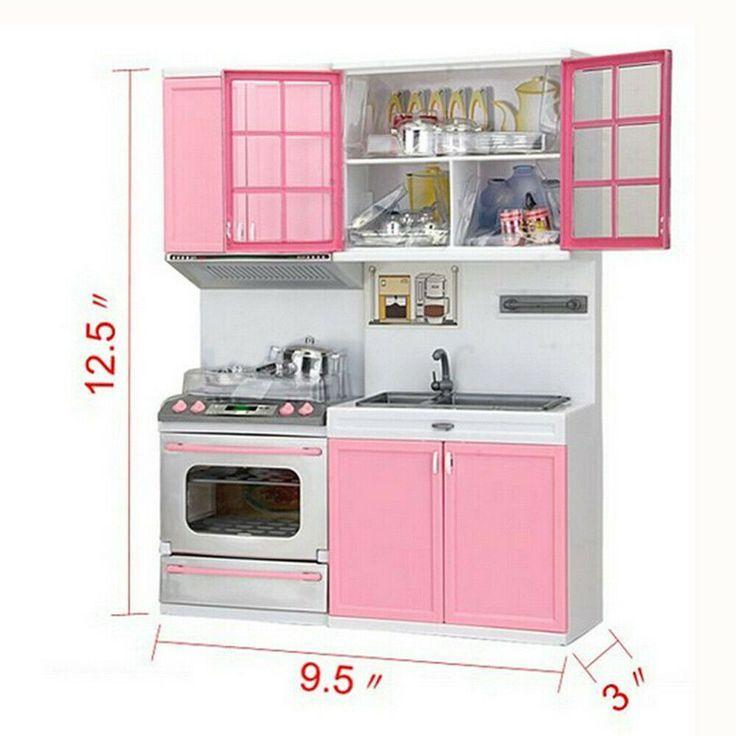 Mini Kitchen Pretend Play Kochen Set Schrank Herd