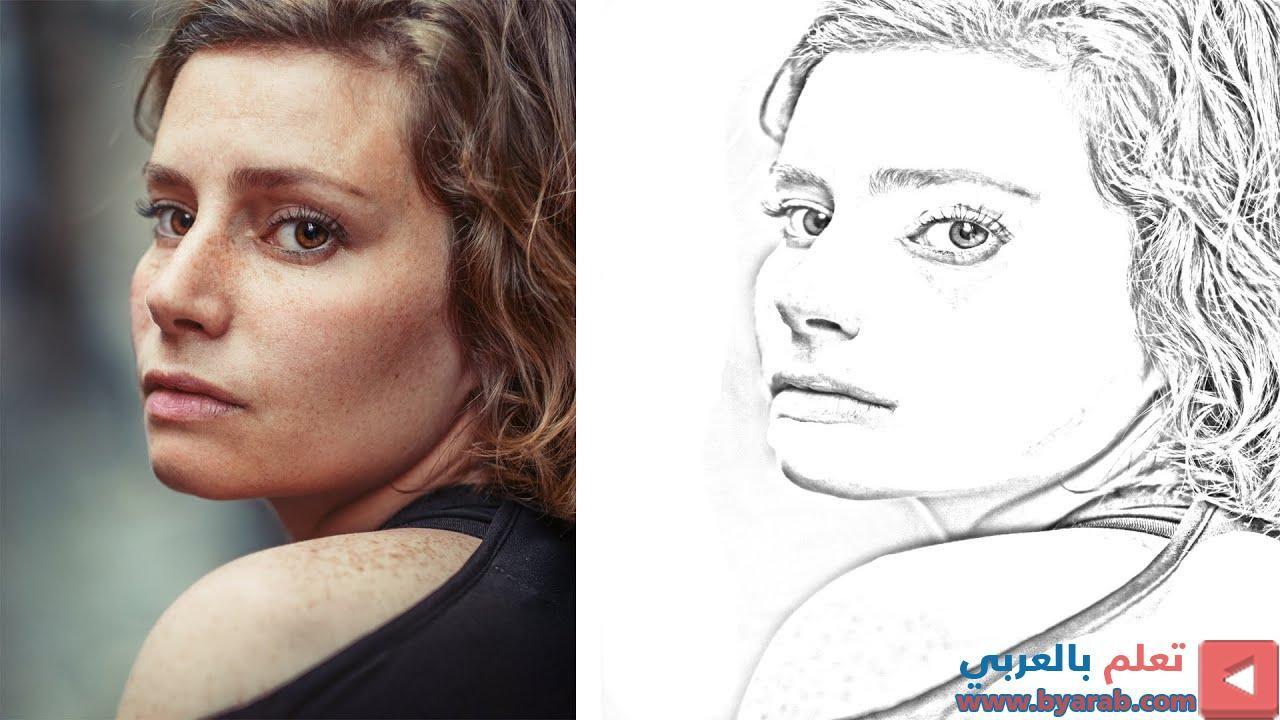 طريقة تحويل الصورة الى رسم بالرصاص باستخدام الفوتوشوب Convert Photo To Pencil Drawing In Phot Male Sketch Portrait Portrait Tattoo