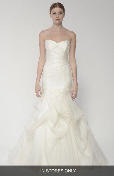 Strapless Silk Organza Mermaid Wedding Dress | Mermaid wedding ...