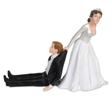 Reluctant Groom Cake Topper, 18€, now featured on Fab.