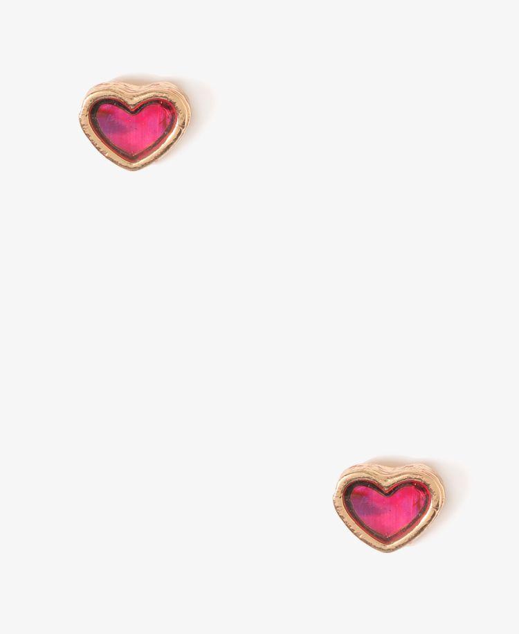 Enameled Heart Studs