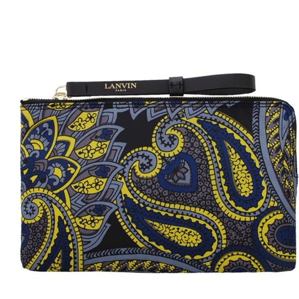 LANVIN Small Paisley Zipped Clutch ($550) found on Polyvore